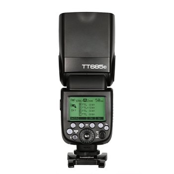 2x Godox TT685C 2.4G HSS TTL 1/8000s Camera Speedlite Flash + X1T-C Transmitter Trigger for Canon + Bowens S-Type Bracket +Gift