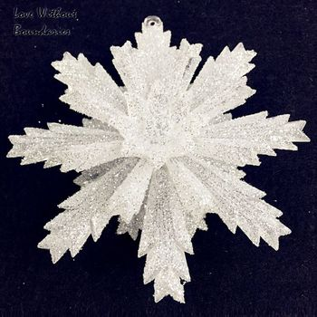 Acryl resin Snowflake Christmas Eve decorations, Realistic snowflake decoration, 12cm x 3pcs