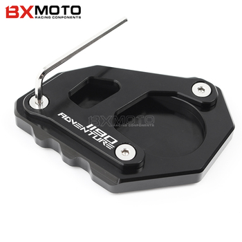 CNC Motorcycle Accessories Aluminum Side Kickstand Stand Extension Plate side stand For KTM Adv 1050 1090 1190 1290 Adventure