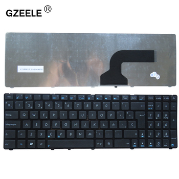 GZEELE Spanish Keyboard For Asus G72 X53 X54H k53 A53 A52J K52N G53 N53T N61 X55V X55VD N73S N73J P53S X53S X75V B53J UL50 SP